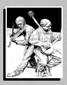 Two Musicians Notecard