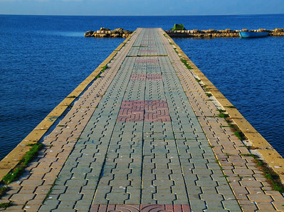 Stone Walkway To The Sea - Lake Ohrid, Macedonia