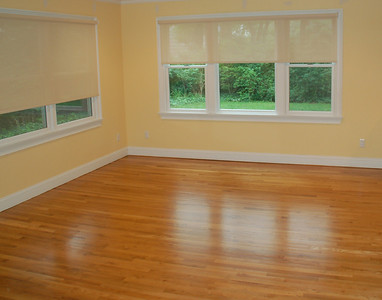 Wood Floor In Empty Living Room