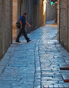 Marble Stone Walkway - Split, Croatia