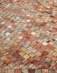 Square Brick Sidewalk
