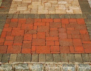 Mixed Stone/Brick Walkway