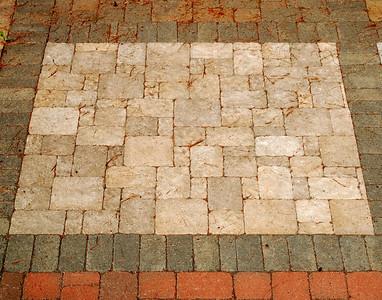 Mixed Stone/Brick Pathway