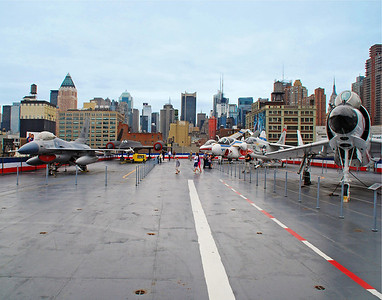 Top Level Of The Intrepid Aircraft Carrier - New York Docked