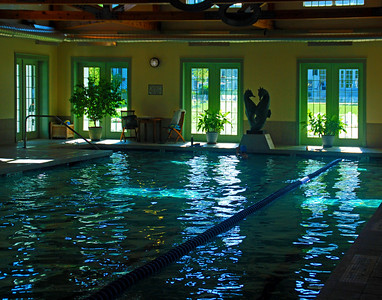 Natural Light Reflecting On Pool
