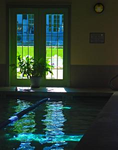 Indoor Pool Light Reflections