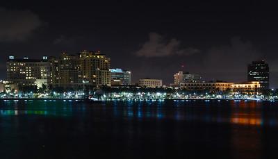 West Palm Beach Nightime Skyline