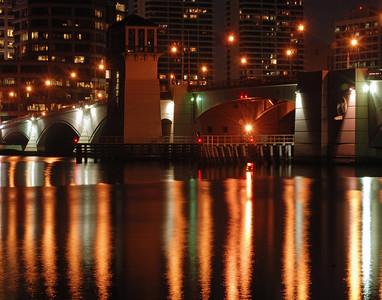 Flagler Bridge At Night