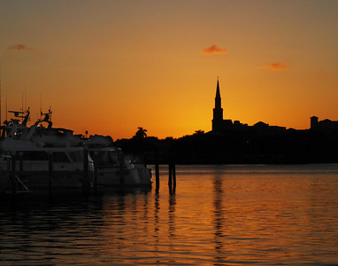 Sunset From The Peruvian Docks