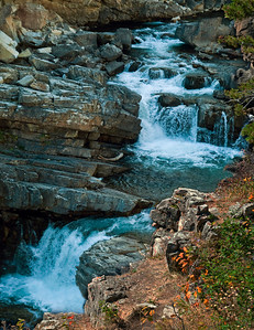Waterfall At Lake McDonald
