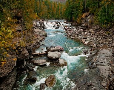 McDonald Creek at Lake McDonald, Glacier National Park, Montana