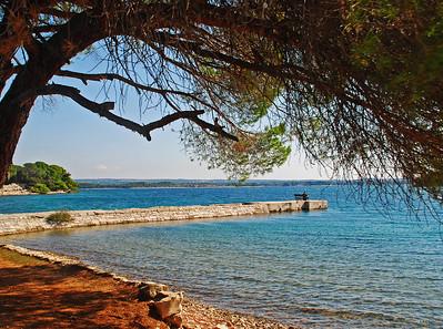 Framed Beach - Brijuni