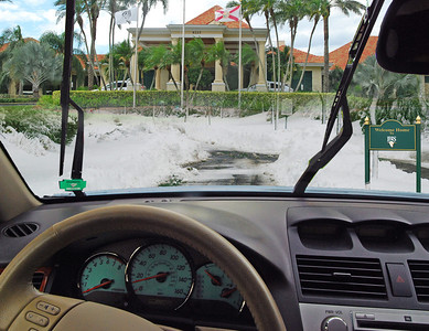 Car - Snow to Clubhouse / Welcome Sign