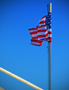 Old Glory Blowing In The Wind