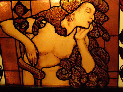 stain glass lady