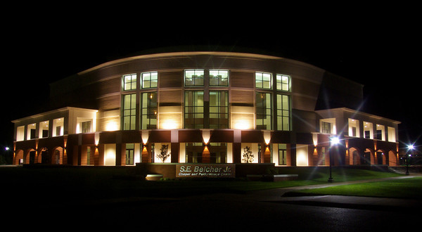 S. E. Belcher chapel and performance center on the campus of LeTourneau University, Longview, TX.