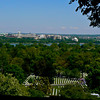 View of Washington, D.C. from the home of Robert E. Lee in Arlington National Cemetery.