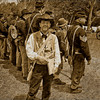 A civil war re-enactor posing as a Harpers Weekly reporter during the battle of Pleasant Hill, LA.