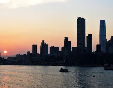Hong Kong Skyline Sunset 2