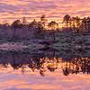 Sunset Cragside Lake