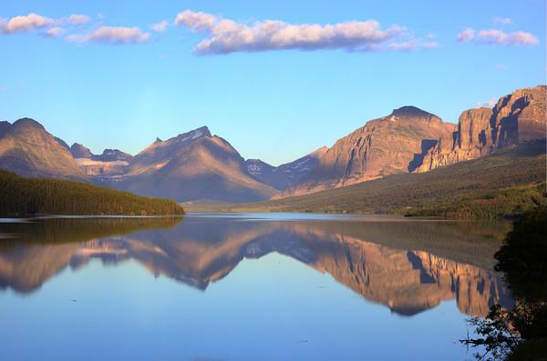 Sunrise on Swift Current Lake<br /> Glacier NP