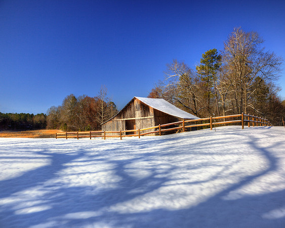 Snow Barn<br /> by Wayne Tabor<br /> Pictorial Score 12
