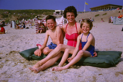 Possibly slightly over-did the smiles here! (Newquay 1963)