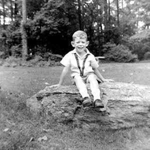 Sitting On a Rock - Age about 6