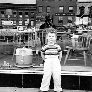 In Front of a Store Window - Approx  Age 3