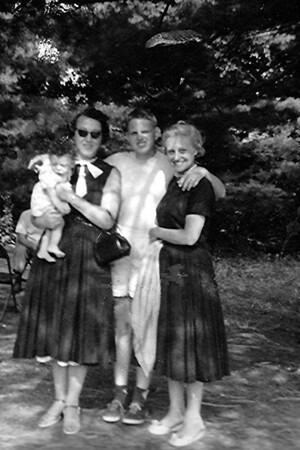 John, Mom, Rose and Michael Schiffman -1956