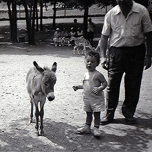 At a Petting Zoo - Age 1