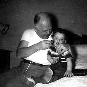 Dad Shaving Me