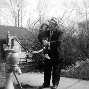 With Dad and Old Pump