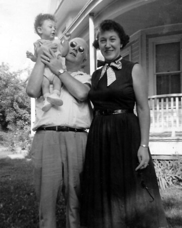Dad Holding Me, With Mom - September 1956