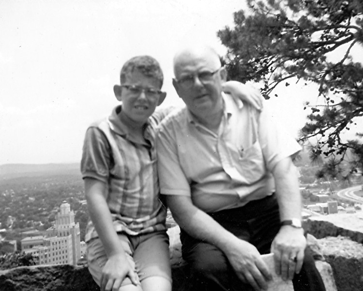 With Dad in Hot Springs National Park - 1966