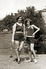 Beatrice Sobel and Doris Sobel in Bathing Suits