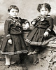 Rose Mermelstein (Sobel) and Bother Harold (with curly hair) - about 1891