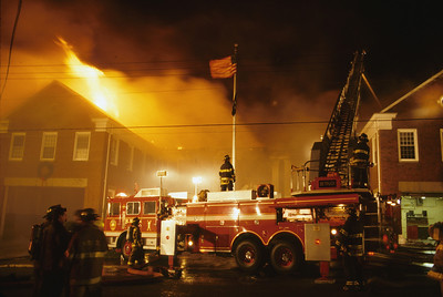 Hasbrouck Heights 5th alarm at the Municipal Building at 248 Hamilton Ave. on 12-10-99.