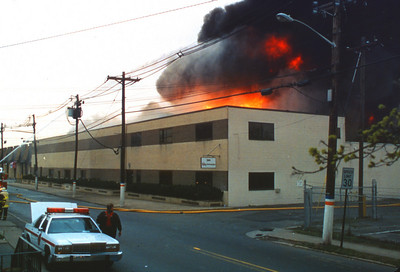 "Lodi General Alarm +++ at ""Napp Chemical"" on Main Street on 4-21-95."