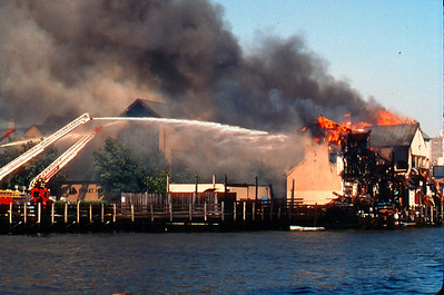 "Weehawken 4th alarm at the ""Charthouse Restaurant"" at 1500 Harbor Blvd. on 5-24-98."