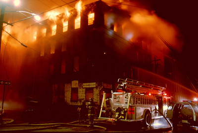 Newark 4th alarm at Passaic and Clay Aves. on 6-21-93.