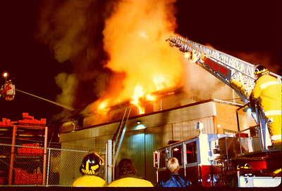 "Garfield General Alarm at ""Garfield Lumber"" on Lanza Ave. on 1-19-93."