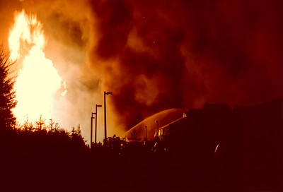 Edison General Alarm+ gas line explosion at the Durham Woods Apartments on 3-24-94
