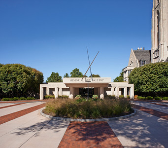 Exterior view of the University of Rochester's Memorial Art Gallery, Rochester, NY. (Photo by Brandon Vick, University Communications, http://brandonvickphoto.com/