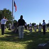 Richard Payerchin - The Morning Journal <br> Amherst veterans perform the ceremony to honor the community's fallen fighters in the community salute at the Amherst Veterans Memorial in the Cleveland Street Cemetery before the Amherst Memorial Day Parade on May 29, 2017. Hundreds of people came out to communities across Lorain County for Memorial Day services.