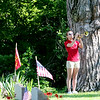 Jonathan Tressler - The News-Herald<br /> Abby Wren, a soon-to-be-senior at Perry High School, plays Echo Taps at Lane Road Cemetery in Perry Township May 29 during the community's Memorial Day observances.
