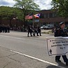 Richard Payerchin - The Morning Journal <br> The Lorain High School ROTC group marches on West Erie Avenue during the Lorain Memorial Day Parade on May 20, 2017.