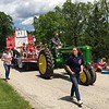 Richard Payerchin - The Morning Journal <br> A tractor pulls a float themed with Happy 200th Birthday to honor the bicentennial of Florence Township in Erie County during the Florence Township/Birmingham Memorial Day Parade on May 29, 2017.