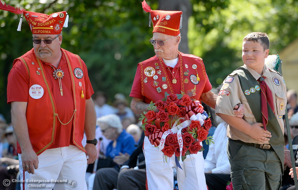 . during the Memorial Day Ceremony held at the Chico Cemetery in Chico, Calif. Monday, May 28, 2018. (Bill Husa -- Enterprise-Record)