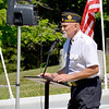Effingham American Legion Post Commander David Mahon served as master of ceremonies for this year's Memorial Day Ceremonies held Monday morning at Oakridge Cemetery in Effingham. Charles Mills photo